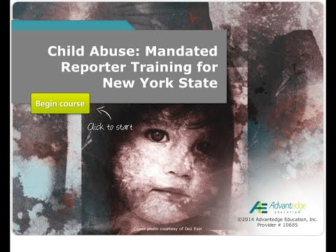 Course Preview: Child Abuse: Mandated Reporter Training in New York State