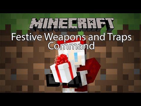 Minecraft Command รีวิว - คอมมานอาวุธคริสมาส | Festive Weapons & Traps [1.12.2]