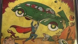 Rare Superman comic found in a house wall goes up for auction