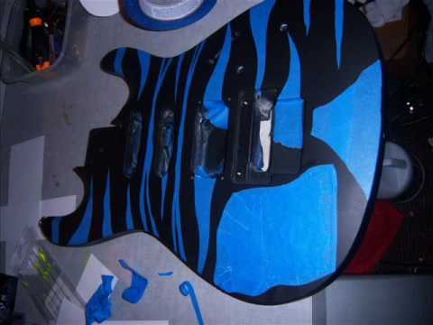 paint a guitar body with spray paint or custom guitar hero youtube. Black Bedroom Furniture Sets. Home Design Ideas