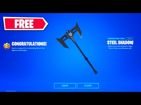 How To Unlock FREE Steel Shadow Pickaxe In Fortnite   Storm The Agency Challenge