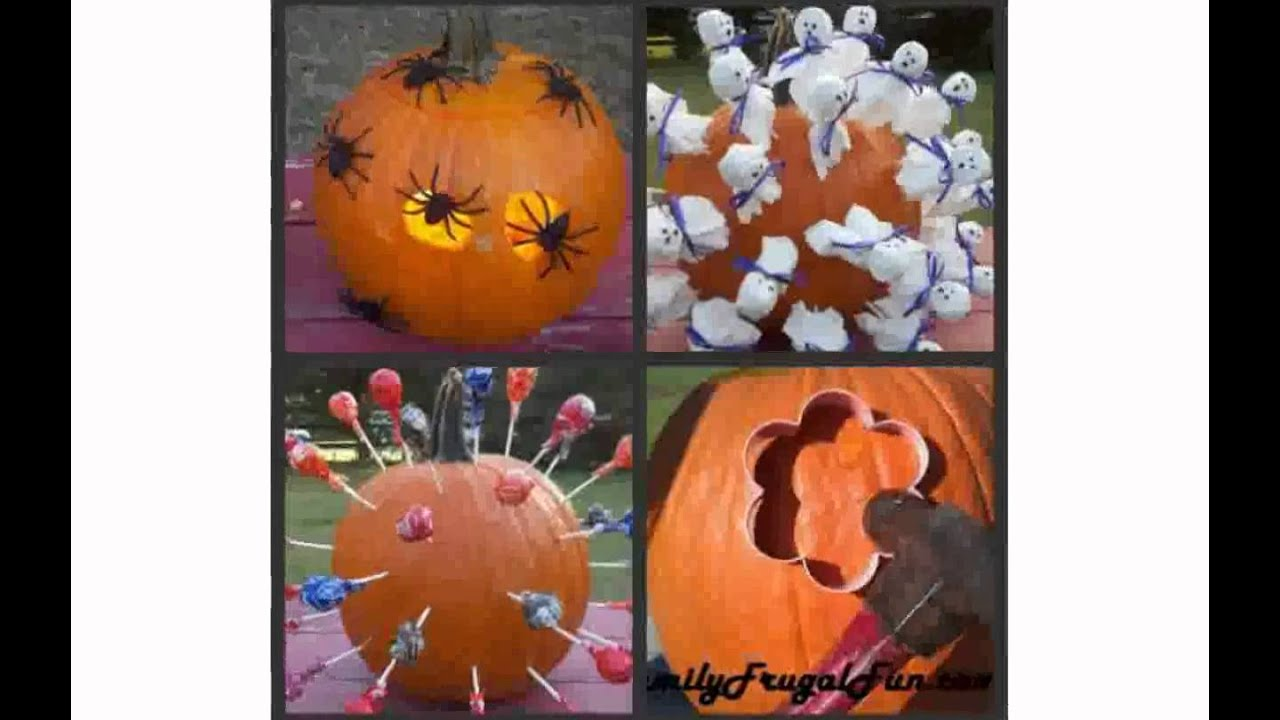 pumpkin decorating ideas for halloween youtube - Halloween Pumpkin Decor