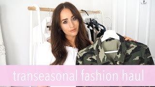 TRANSITIONAL FASHION HAUL & TRY ON | ZARA TOPSHOP NEW LOOK | Sophie Milner Fashions Slave