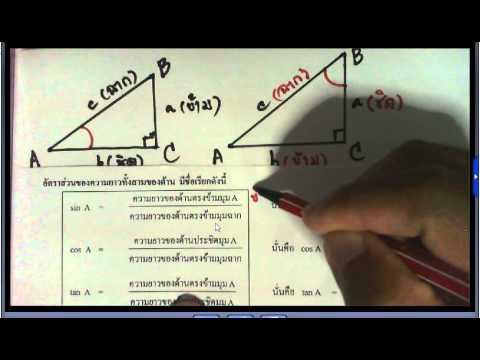 อัตราส่วนตรีโกณมิติครูหนุ่ย ตอน 1