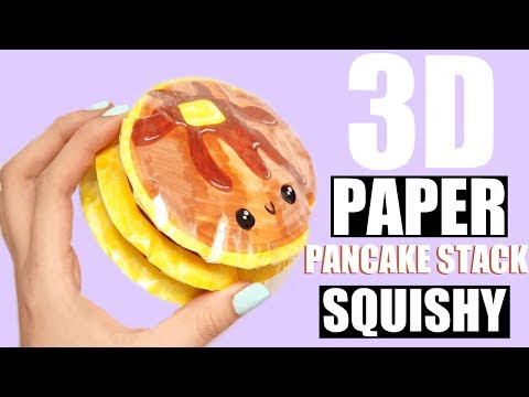 DIY PAPER PANCAKE STACK SQUISHY | how to make a squishy without foam