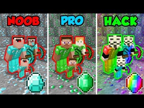 Minecraft NOOB Vs. PRO Vs. HACKER: FAMILY MINING CHALLENGE In Minecraft! (Animation)
