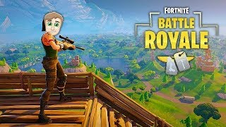 MY FIRST SOLO GAME! (FORTNITE without RED HOUSE)