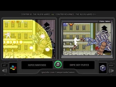Contra Iii Vs Contra Advance Snes Vs Gba Side By Side Comparison The Alien Wars Ex Compa