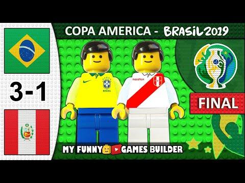 Copa America Final 2019 • Brazil Vs Peru 3-1 🏆 All Goals Highlights LEGO Football Film (Brasil)