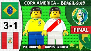 Copa America Final 2019 • Brazil vs Peru 3-1 🏆 All Goals Highlights LEGO Football Film (Brasil)