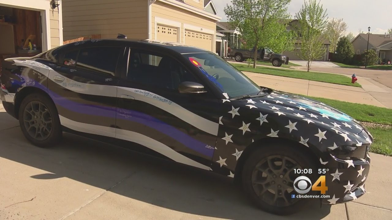 Woman Backs The Blue With Unique Car: 'They Just Stare At It'