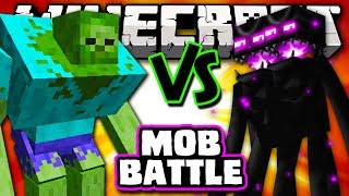 MUTANT ZOMBIE VS ENDER TITAN - Minecraft Batalha de Mobs - Mutant Creatures e Farlanders Mods