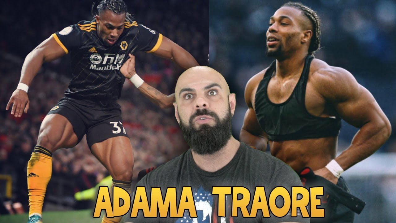 Reagindo ao treino do jogador de futebol mais musculoso do mundo - Adama Traore