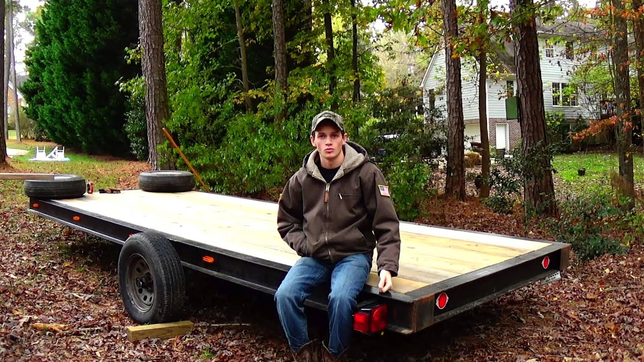 Homemade Flatbed Boat Trailer is Finished - YouTube