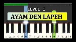 not piano ayam den lapeh - tutorial level 1 - lagu daerah nusantara tradisional - not pianika