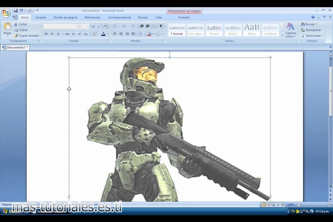 Office 2007 - Poner una imagen de fondo - YouTube