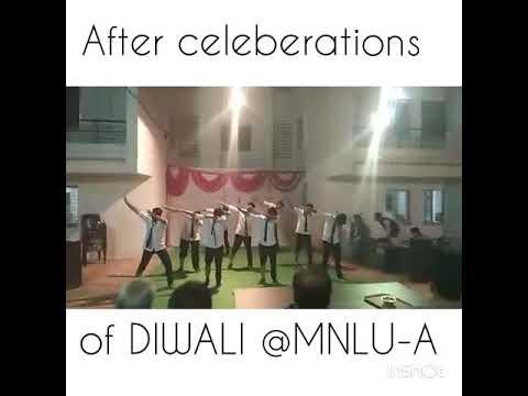 After Celeberations of Diwali| Silent Dance Act| MNLU Aurangabad