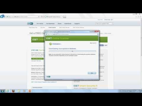 Eset Online Antivirus Scanner - Gebruiksaanwijzing
