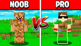 NOOB MINECRAFT ARMOR vs GOD ARMOR!