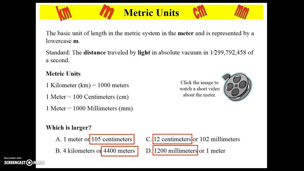 worksheet Metric Mania Worksheet metric mania length youtube length