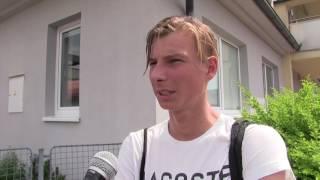 Daniel Rabas po prohře v 1. kole na turnaji Futures v Ústí n. O.