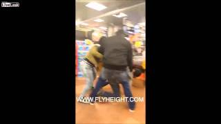 young thug slaps a ratchets butt starts a big fight inside store