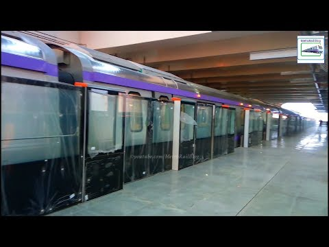 Sector-5 Metro Station Walkthrough and 80 KMPH Ride of East-West Metro
