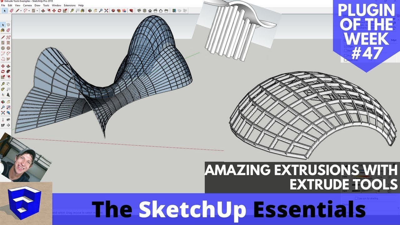 AMAZING Extrusions in SketchUp with Extrude Tools - ALL TOOLS EXPLAINED! -  Extension of the Week #47
