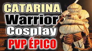 "Dark Souls 2 - ""Catarina WARRIOR"" - ""Cabeça de Cebola"" Cosplay Best PVP Zweihander #3"