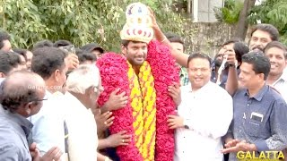 Vishal Celebrates His Birthday At Nadigar Sangam