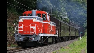 磐越西線 DE10形+旧型客車 回9271レ 中山宿~上戸 2019年7月15日