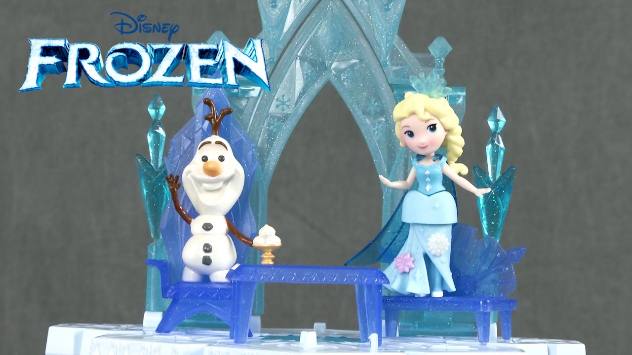 b4a8c5bf928 Disney Frozen Little Kingdom Elsa's Magical Rising Castle from Hasbro