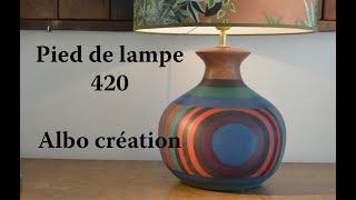 PIED DE LAMPE EN VALCHROMAT - 420