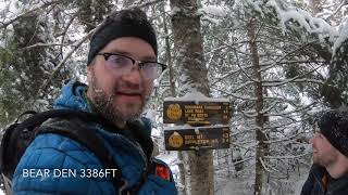 Winter hike up Dial & Nippletop in Adirondacks JAN 19 2019