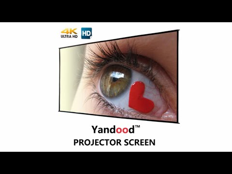 Yandood Projector Movie Screen HD Double Sided Foldable Portable Projection Screen