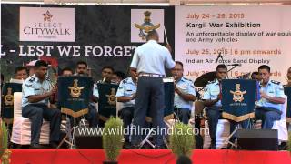 Indian Air Force Band performing at Select City walk, Delhi