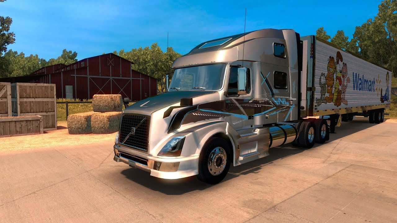 american truck simulator ats volvo vnl 780 youtube. Black Bedroom Furniture Sets. Home Design Ideas