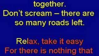 Re: Mika Relax (Take It Easy) Karaoke Lyrics