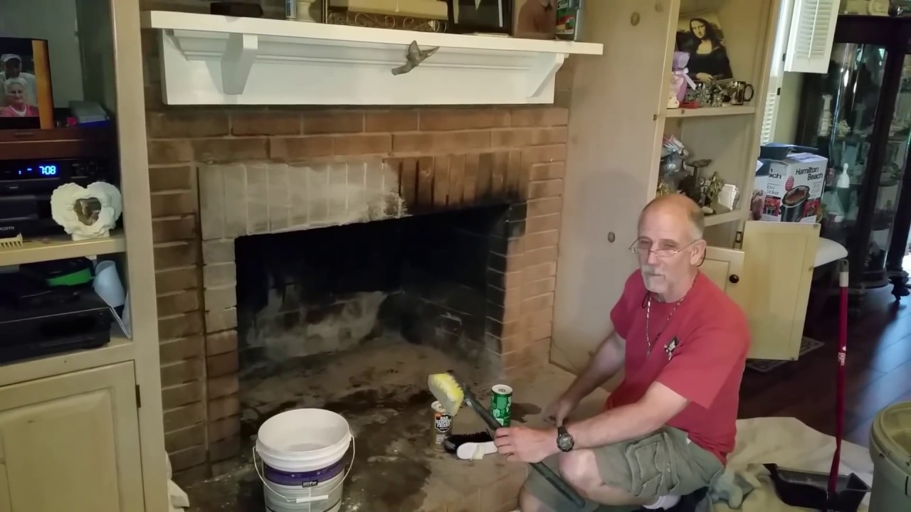 Best way to clean Creosotes off brick fireplace hack - YouTube