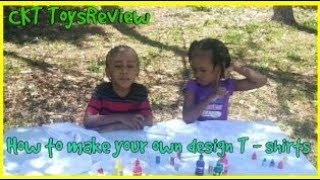Making your own design T- shirts fun activities for kids