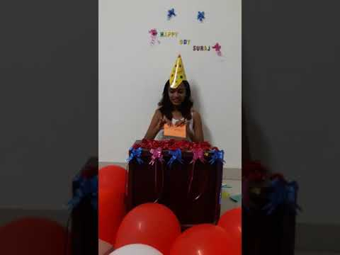 Happy birthday Suraj.LDR birthday surprise.Reverse video.