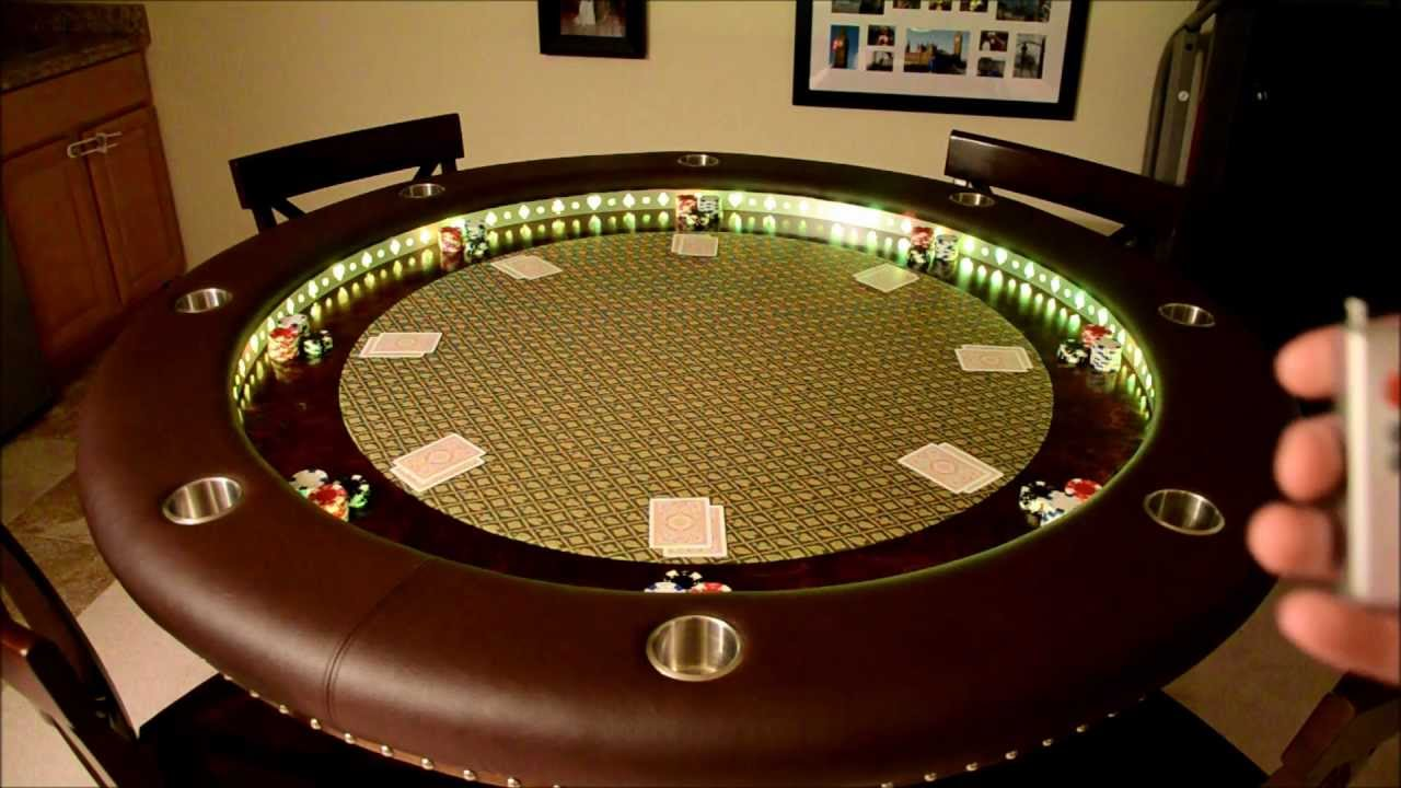 Custom Poker Table LED Effects YouTube