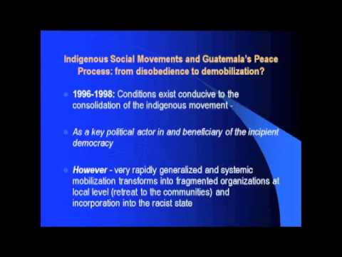 Dr. Roddy Brett - Indigenous Movements and Democratization in Guatemala