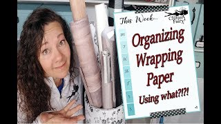 Organize your Wrapping Paper - Using WHAT?!?!
