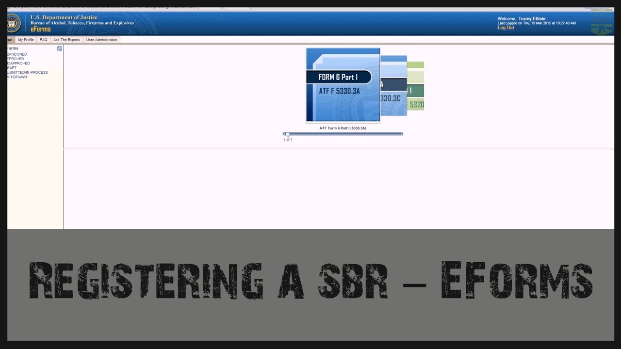 How to Use EForms - Form 1 SBR - YouTube