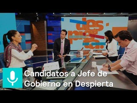 Candidatos a la Jefatura de Gobierno de la CDMX, en Despierta - Despierta con Loret