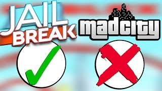 5 motivi per cui Jailbreak è BETTER di Mad City! (Roblox Drama)