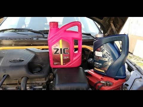 Замена масла двигателя, кпп ваз 2110-11-12. Честный отзыв масел Зик, Манол, Лукойл