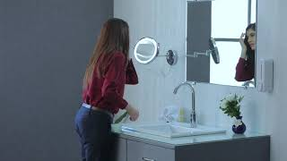 5X LED Magnifying Mirror Wall Mount- One Side video