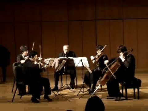 Weber  Clarinet Quintet Mvt. I John Laughton and Moscow Quartet.avi